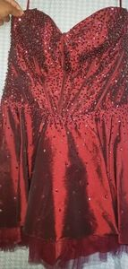 Strapless Beaded Prom/Evening Dress with Wrap
